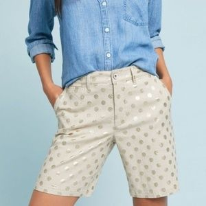 NEW Anthropologie Polka Dot Bermuda Shorts